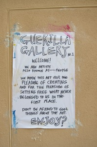 Guerilla Gallery No.1